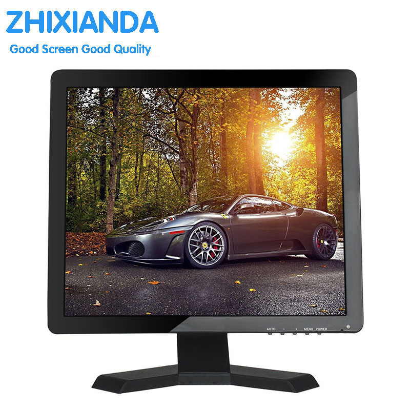 Zhixianda 15 touch screen monitor 1024*768 touchscreen monitor 15 inch usb touch monitor with AV/BNC/VGA/HDMI/USB interface white 8 inch open frame industrial monitor metal monitor with vga av bnc hdmi monitor
