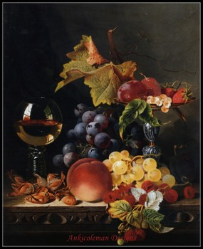 Needlework for embroidery DIY DMC High Quality - Counted Cross Stitch Kits 14 ct Oil painting - Fruit and Wine