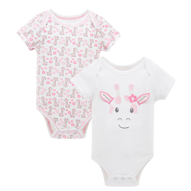 Clearance Infant Cute Cartoon Animal Printed Baby Boy Girl Romper Cotton Short Sleeve Toddler Clothes Casual Kids Jumpsuit