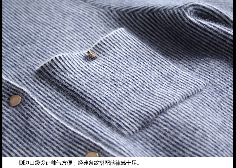 Damen Long Baseball Kitted Cashmere Cardigan Sweater Damen Herbst - Damenbekleidung - Foto 4