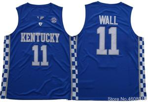 Mens Free Shipping College 11 John Wall JERSEYS Men Breathable Kentucky  Wildcats Wall BASKETBALL JERSEYS Color Blue White 32abf60ca