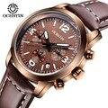 Marca de moda Sports Relógios Men Quartz Chrono 24 Horas Data Relógio de Couro Casual Masculino Militar Assista Relogios Masculino Horas