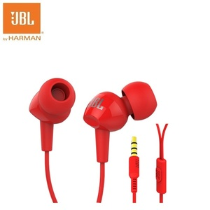 Image 3 - JBL c100si베이스 스테레오 이어폰, 안드로이드 IOS 핸드폰 용 이어폰, 록 지르콘 Audifonos with Mic