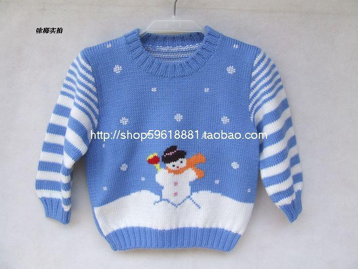 Hand Knitted Clothing For Baby Boys Girl Knitted Pullover Sweater
