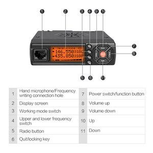 Image 4 - Mini talkie walkie de voiture Zastone Z218 10KM 25W double bande VHF/UHF 136 174mhz 400 470mhz 128CH Mini émetteur récepteur de Station Radio CB