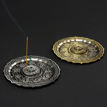 PINNY 9 Dragons Retro Incense Burner 5 Hole Stick Alloy Base Room Decoration Meditation Sandalwood Metal