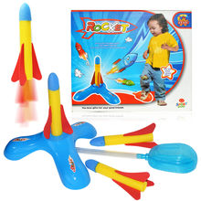 Children Kids Outdoor Toys Footsteps Bubble Rocket Set Fun Sport Toy Play Rocket Jump Jet Launcher Stocking Filler Toy(China)