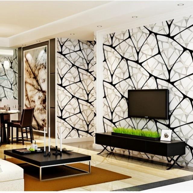 Beibehang Modern Simple Living Room Wallpaper Abstract 3D Thick TV Backdrop  Wall 3d Wallpaper Papier Peint