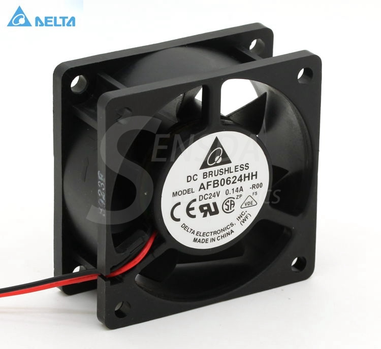 for delta AFB0624HH 6cm 60mm 60*60*<font><b>25</b></font> <font><b>mm</b></font> 6025 24V 0. 14A server inverter cooler cooling <font><b>fans</b></font> axial image