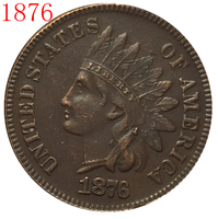 1876 Indian head cents coin copy FREE SHIPPING