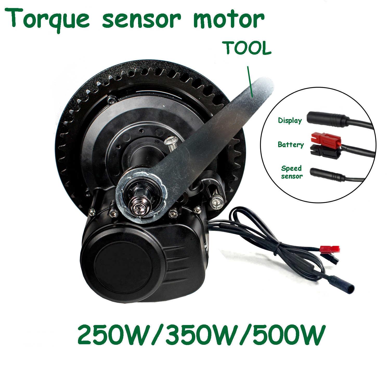 Tongsheng TSDZ 2 36V 48V 250W 350W 500W capteur de couple XH18 mi moteur d'entraînement bricolage Kit de Conversion de vélo électrique