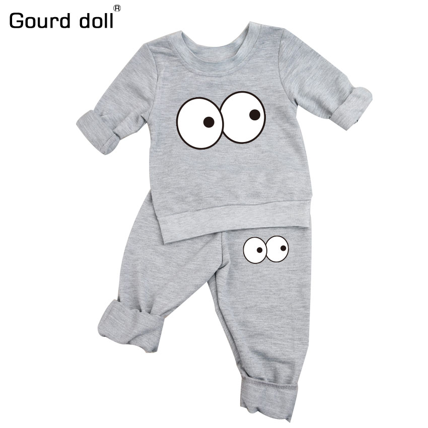 2pcs/lot 2017 autumn baby boys girls clothes Long sleeve Top + pants 2pcs sport suit baby clothing set newborn infant clothing cotton baby rompers set newborn clothes baby clothing boys girls cartoon jumpsuits long sleeve overalls coveralls autumn winter