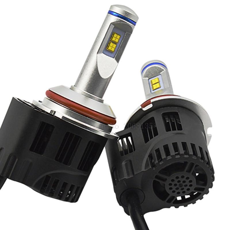 Высокая мощность Р6 9004 55W замена фары автомобиля светодиодные лампы авто датчик 10400lm светодиодная Лампа 3000К 4000К 5000К 6000К автомобиль МЗ обломок СИД