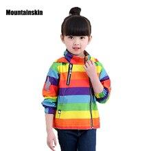 Mountainskin Новинка; куртка для девочек и мальчиков детская Куртки одежда 12M-8Y детские пальто Демисезонный ребенка ветровка верхняя одежда SC810