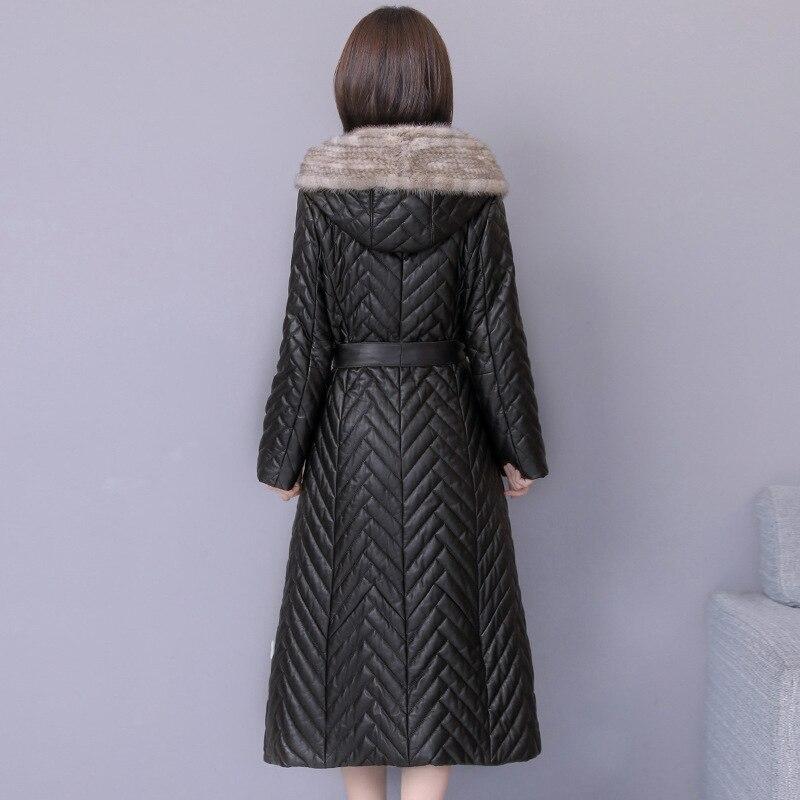 Imperméable vent Casaco Coupe coat Pour Noir Trench Vent Outwear De Long Coton Femmes Feminino Élégant rembourré Manteaux 4j5R3AL