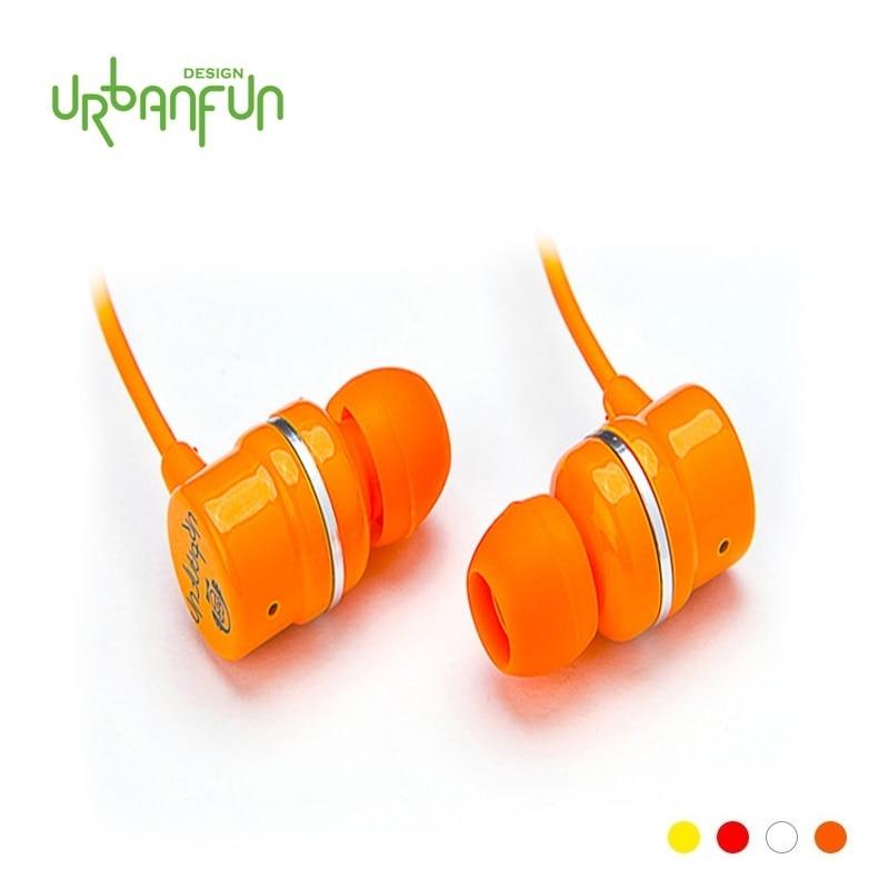 URBANFUN  Ceramic Paint COLOR FUN HiFi Beryllium Earphone with Mic  3.5mm Music Earphone Free Shipping yummy cupcake box paint your own ceramic keepsake