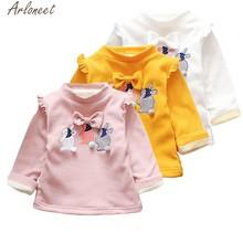 d0271ff55 ARLONEET niños bebé niños Gils ropa de conejo de dibujos animados cálido bebé  niño Sudadera con capucha lindo bebé niña sudadera.