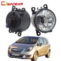 Cawanerl 2 Pieces Car LED Light Fog Light Daytime Running Lamp DRL H11 4000LM 6000K White
