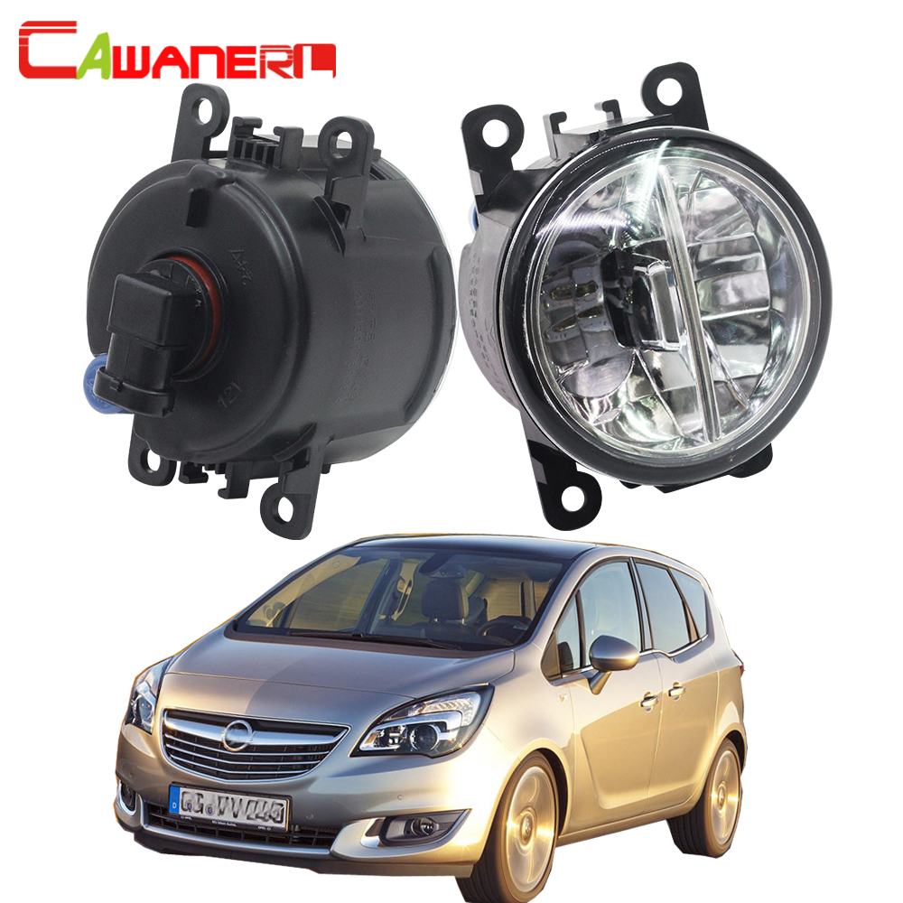 Cawanerl 2 Pieces Car LED Light Fog Light Daytime Running Lamp DRL H11 4000LM 6000K White 12V For Opel Meriva A 2006-2010 cawanerl 2 x car led fog light drl daytime running lamp 12v white for toyota prius hatchback zvw3 1 8 hybrid 2009 onwards