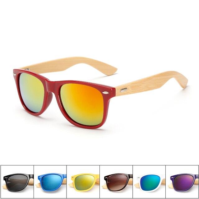 17 Cores óculos de sol de bambu Polarizada Óculos Mulheres UV400 Goggle  Óculos Eyewear oculos de c682b8a295