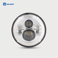 For Jeep JK 7 Round Headlight Led For Jeep Wrangler 97 15 Hummer Toyota Defender 7 LED Harley Motorcycle Headlamp For Harley