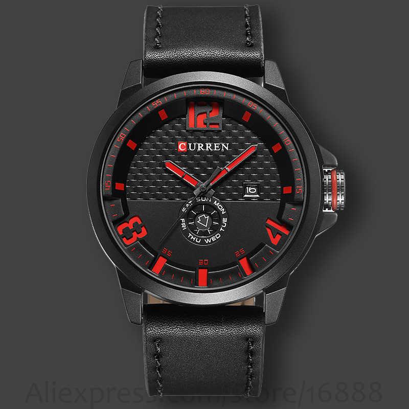 db94d9bb491 Top Men Watch CURREN brand 2019 fashion casual quartz wristwatch men  leather strap round Quartz Calendar