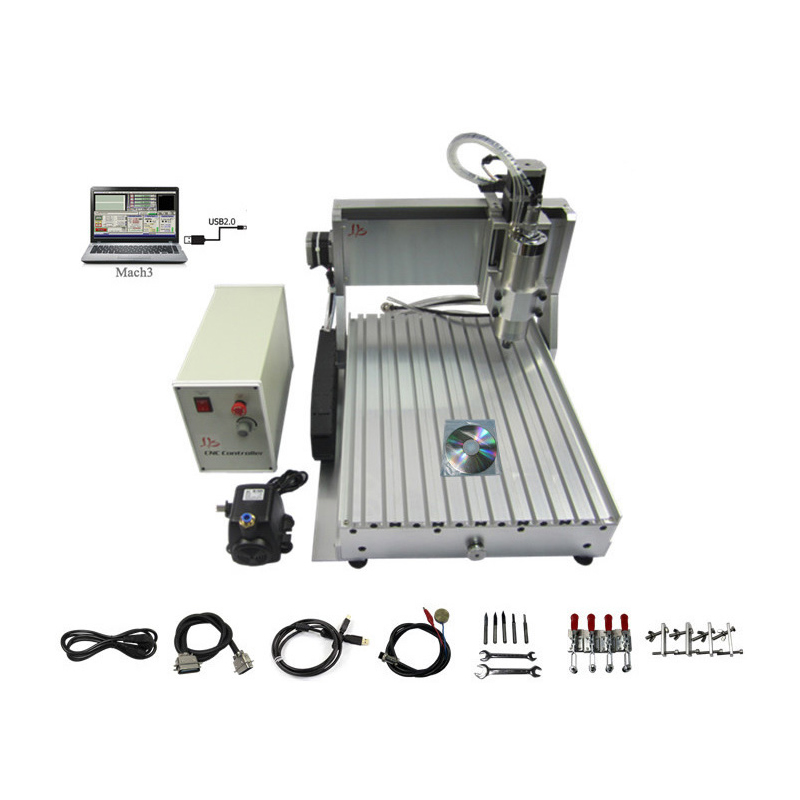 USB port 3D axis CNC router 3040 wood carving machine with 800w spindle motor