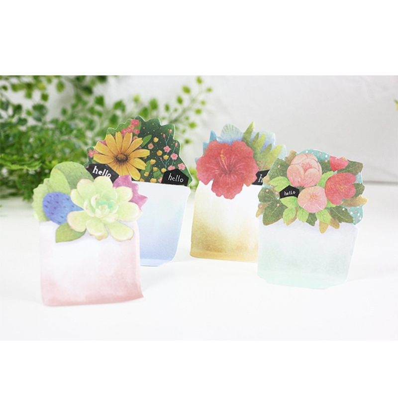 36 pcs/Lot Flower plant memo pad Succulent Daisy post notes Vintage planner sticker Stationery Office School supplies 6554