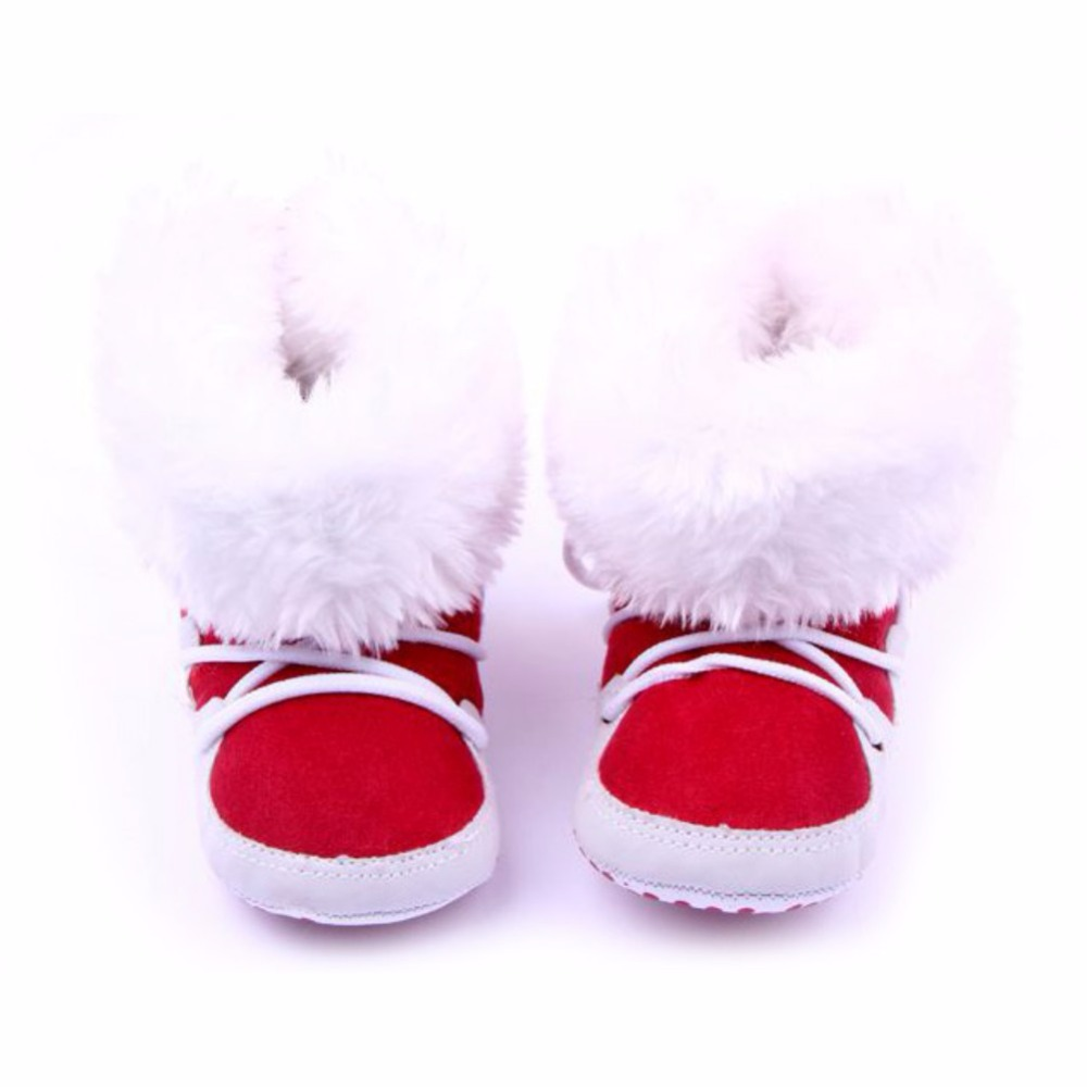 Fashion Winterborn Baby Flock Warm Pre-walker Shoes Infant Boy Girl Toddler Soft Soled First Walker