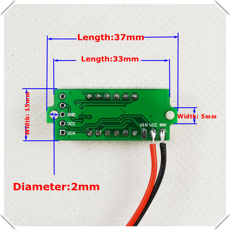 3 colors of each lot 4 Digit 0.36 Digital Voltmeter Multimeter 3.50--30V Two wires Voltage Panel Meter LED [ 12 pcs / lot] 100 pcs ld 3361ag 3 digit 0 36 green 7 segment led display common cathode