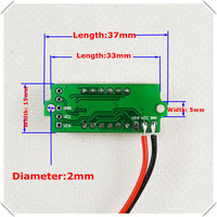 3 colors of each lot 4 Digit 0.36 Digital Voltmeter Multimeter 3.50 30V Two wires Voltage Panel Meter LED [ 12 pcs / lot]