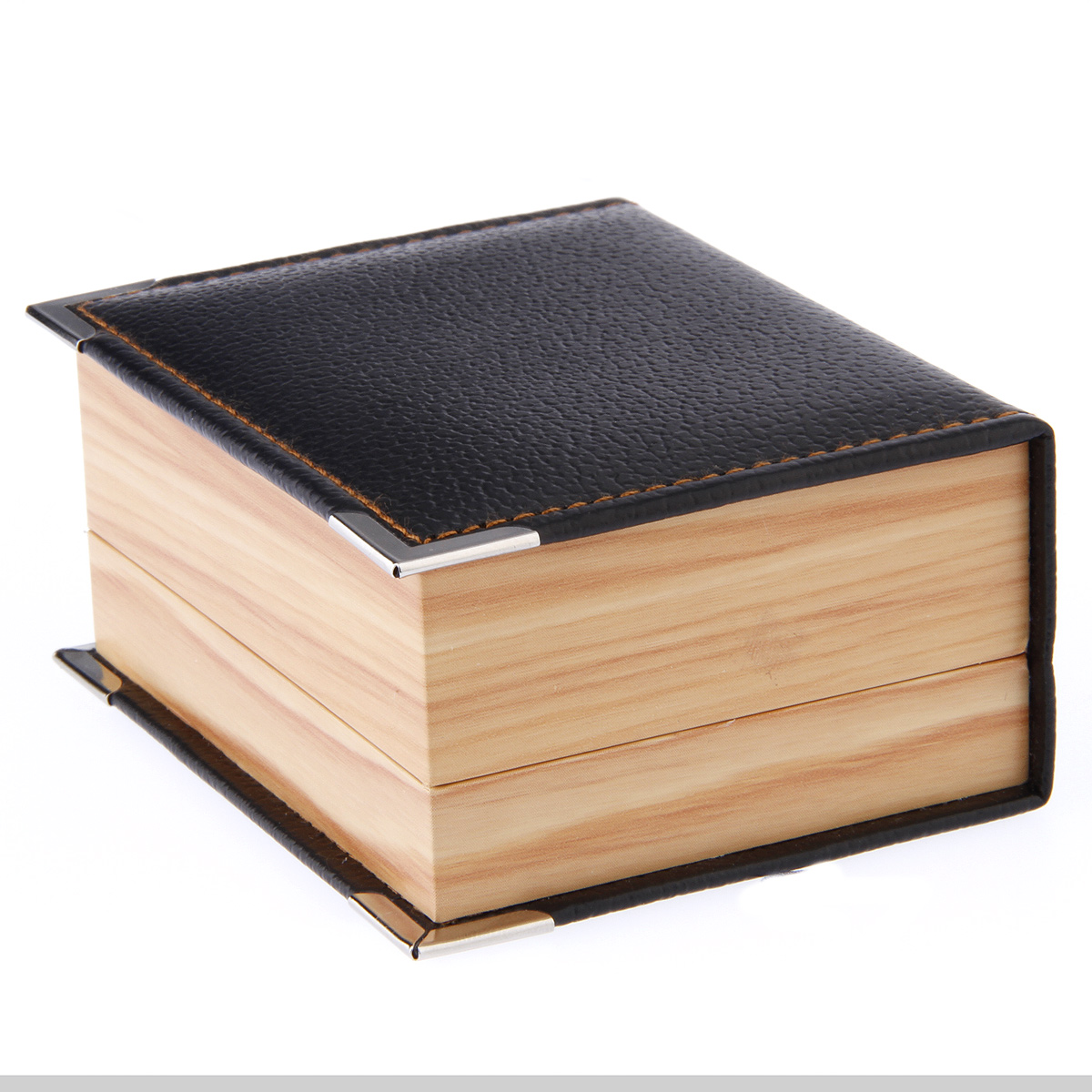 Hotsale New Cufflinks Box 10pcs lot PU Material With Wooden Decoration Quality Cuff Links Gift Box
