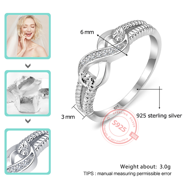 Sterling Silver Infinity Fashion Ring for Women  1