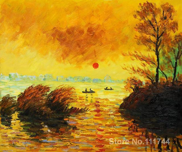 Acheter Une Peinture Le Coucher Du Soleil La Seine Claude Monet