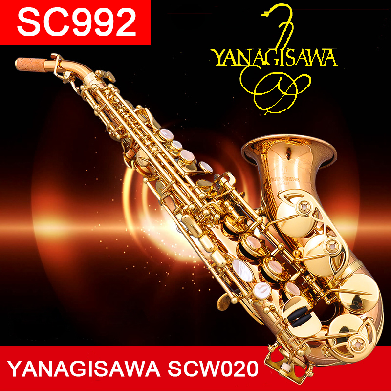 YANAGISAWA Top Curved Soprano Saxophone SC992 Phosphor Bronze Copper Soprano Bass Sax Saxofone Professional with case Mouthpiece professional play h68 phosphor bronze copper bb saxphone falling tune b bakelite mouthpiece head sax straight saxophone in bb