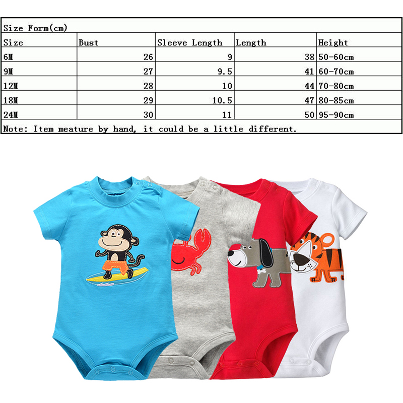 fbb73b2ab Children s Pajamas Boys Girls Baby Rompers Short Sleeve Cotton O ...
