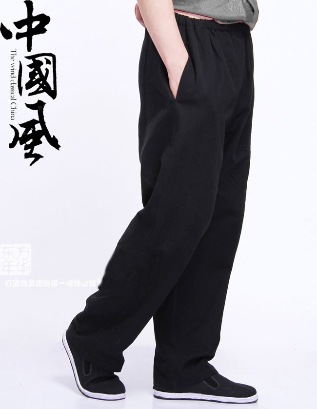 Tang pants Wing Chun kung Fu Pants Tai Chi Martial Arts Classic Black long Trousers Cotton Size M-XXXL другой chi chun love of reading