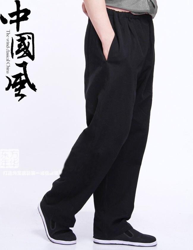 Тан брюки вин чунь кунг-фу брюки тай чи единоборства классический черный с хлопок размер M-XXXL