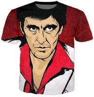 Mùa hè mới t áo sơ mi harajuku 3D tee áo sơ mi Scarface bộ phim character in ấn Đầu Của Al Pacino t shirts Phụ Nữ Người Đàn Ông casual tops tees