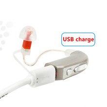 High powerful RIC mini rechargeable hearing aid digital with intelligent adaptive noise reduction Acoustic audiophone AST E35 цена в Москве и Питере