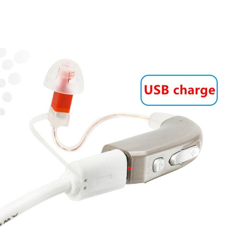 Mini appareil auditif rechargeable haute puissance RIC numérique avec audiophone acoustique à réduction de bruit adaptative intelligente AST E35