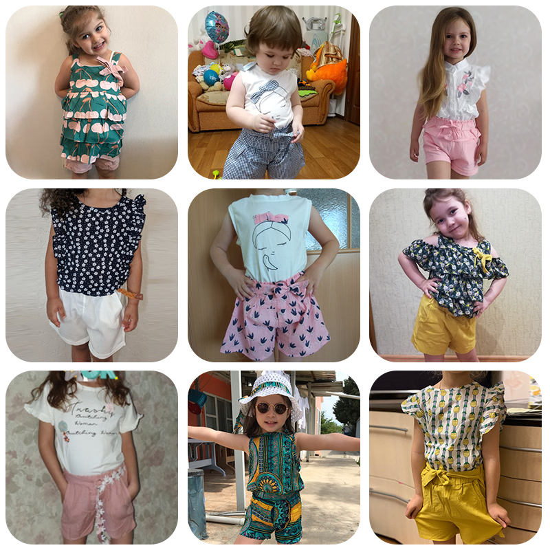 Melario Kids Girls Clothing Sets Summer Baby Girls Clothes T-Shirt and Jeans Shorts Suit 2Pcs Children Clothes Suits