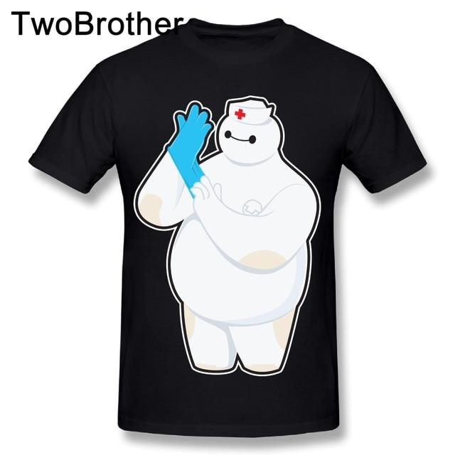 d1491ac7 2018 New Arrival Male Robotic Nurse T Shirt O-neck Design Tees Baymax  Streetwear Camiseta
