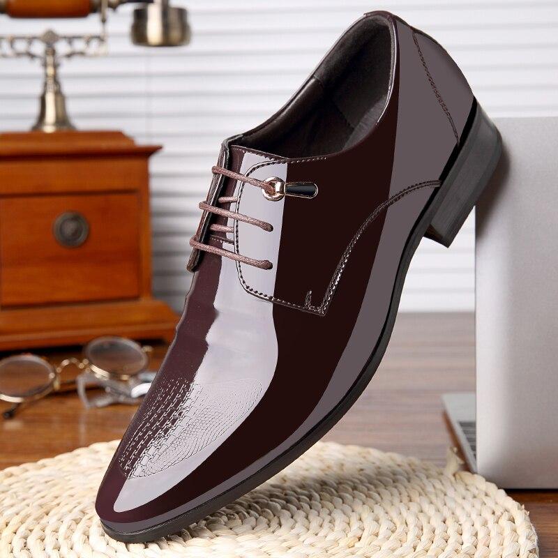 Charol Italiana Zapatos Estrecha Calzado Masculino Negocio Hombres Punta Para Oxford Formal Derby Marca Nuevo Elegante Diseñador De 0fTSqtXwx