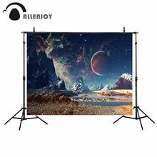 Allenjoy stüdyo fotoğraf Fantasy manzara alien gezegen tepe yıldızlı gökyüzü yaşam bilim kurgu zemin fotoğrafçılık için