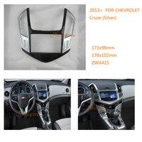 2 Din Car Radio fascia Facia Panel Adapter for CHEVROLET Cruze 2013+ (Silver) Fitting Frame Mounting Kit Set Fascia