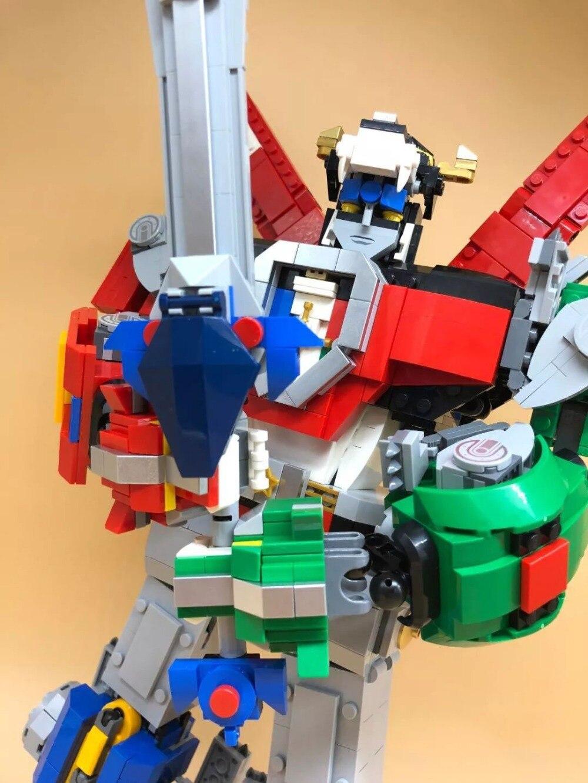 Defensor Combinación Robot Bloque De Juguete Serie Ideas Construcción Voltron Ladrillos lF1J3TKc