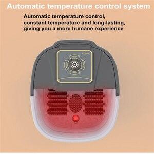 Image 2 - Automatische Infrarot Elektrische 12 Fuß Massage Rollen Erhitzt Maschine Fußpflege Gerät Barrel Spa Bad Therapie Rollen Bein Massager
