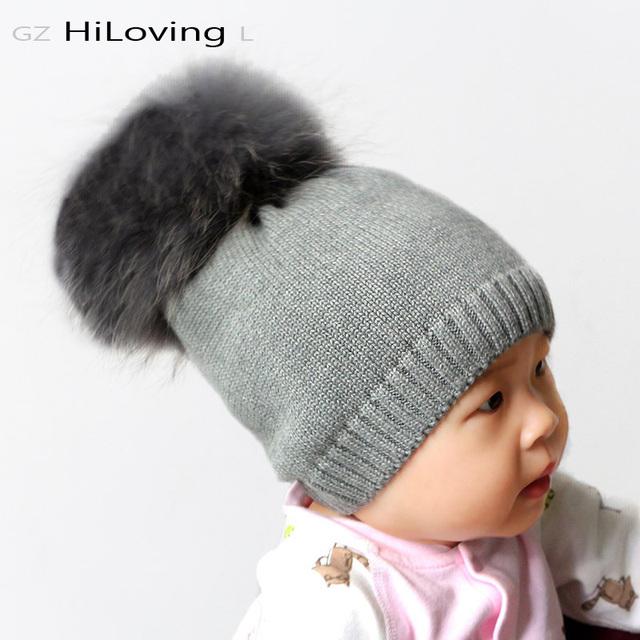 5month-2 años Bebé Niñas Niños Niños Invierno Gorros Con Pompones De Piel Suave 100 Algodón Niños Del Niño Gorros De Punto De Ganchillo Sombreros
