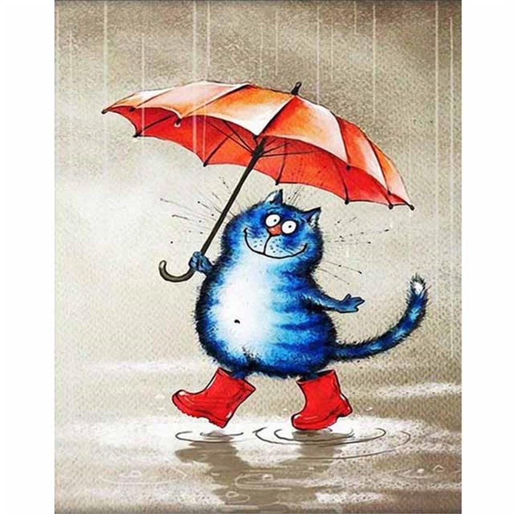 Картинки прикольные рисованные с котами, открытка